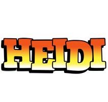 Heidi sunset logo