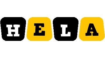 Hela boots logo