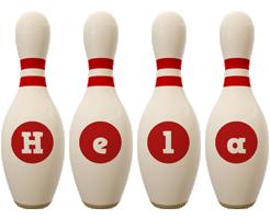 Hela bowling-pin logo