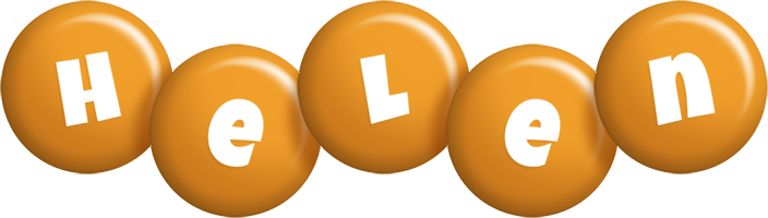 Helen candy-orange logo