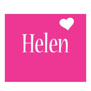 Helen love-heart logo