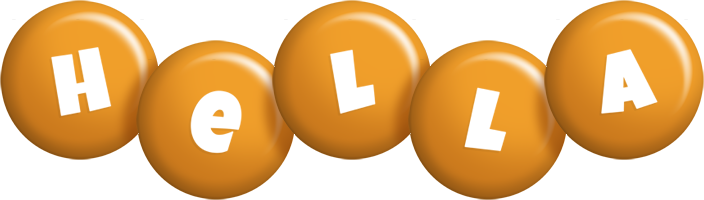 Hella candy-orange logo