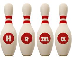 Hema bowling-pin logo