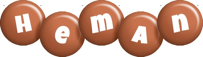 Heman candy-brown logo