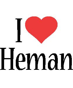 Heman i-love logo