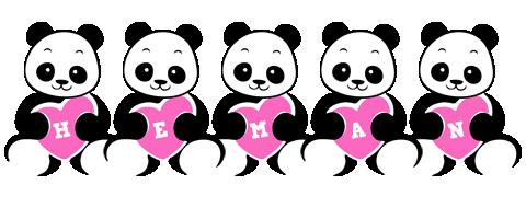 Heman love-panda logo