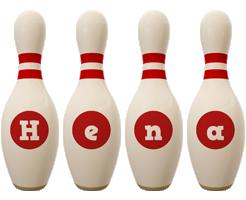 Hena bowling-pin logo