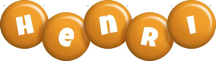 Henri candy-orange logo