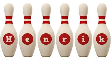 Henrik bowling-pin logo