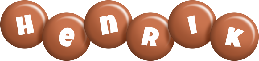Henrik candy-brown logo