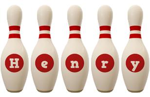 Henry bowling-pin logo