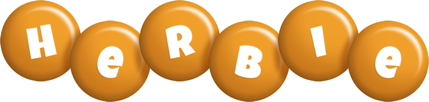 Herbie candy-orange logo
