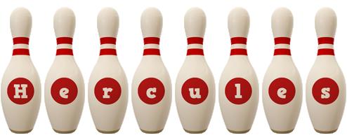 Hercules bowling-pin logo