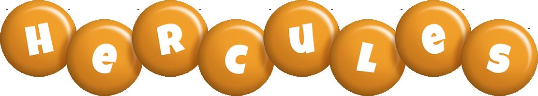 Hercules candy-orange logo