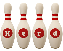 Herd bowling-pin logo