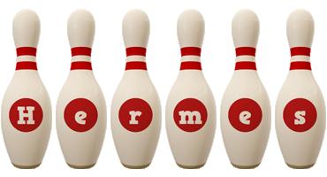 Hermes bowling-pin logo