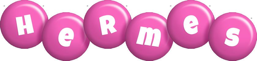 Hermes candy-pink logo