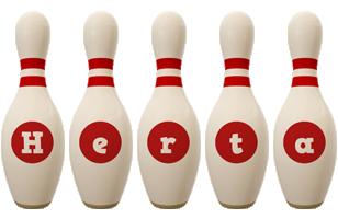 Herta bowling-pin logo