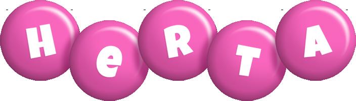 Herta candy-pink logo