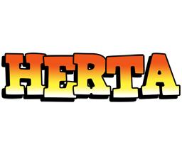 Herta sunset logo