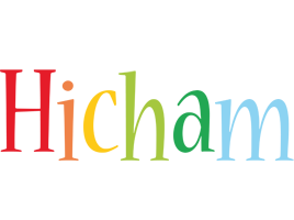 Hicham birthday logo