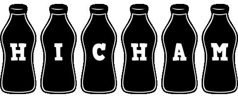 Hicham bottle logo