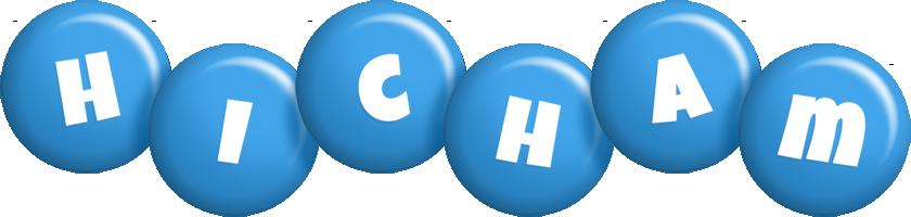 Hicham candy-blue logo