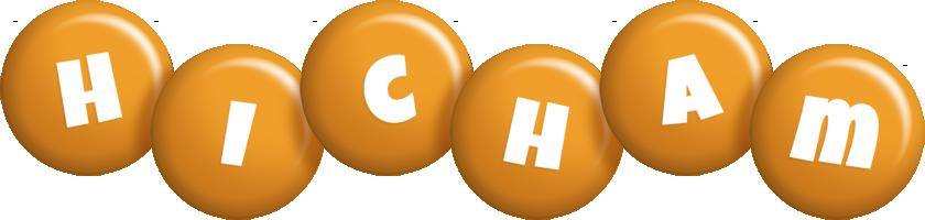 Hicham candy-orange logo