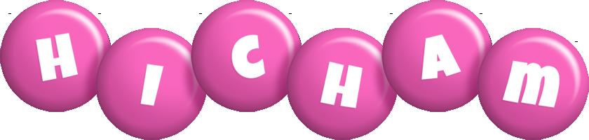 Hicham candy-pink logo