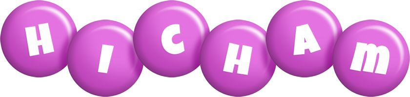 Hicham candy-purple logo