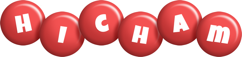 Hicham candy-red logo