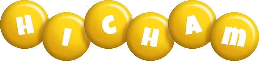 Hicham candy-yellow logo