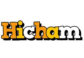 Hicham cartoon logo