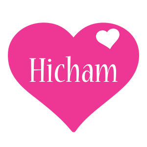 Hicham love-heart logo