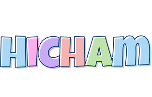 Hicham pastel logo