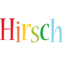 Hirsch birthday logo