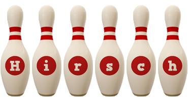 Hirsch bowling-pin logo