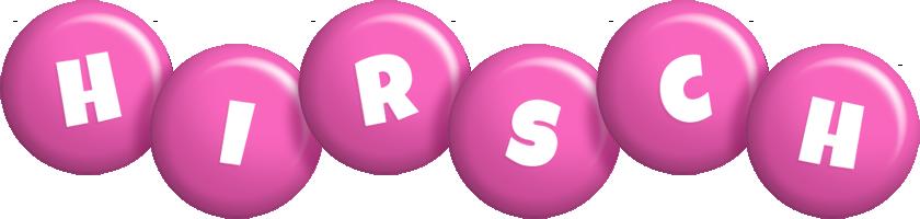Hirsch candy-pink logo