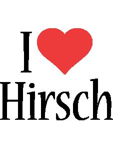 Hirsch i-love logo