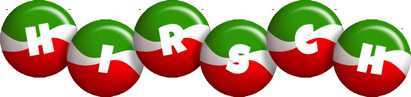 Hirsch italy logo