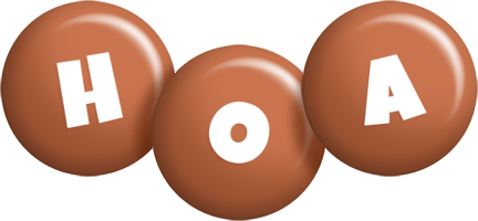 Hoa candy-brown logo