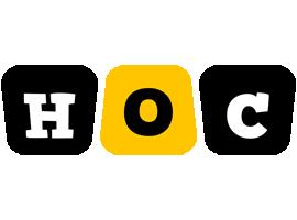 Hoc boots logo