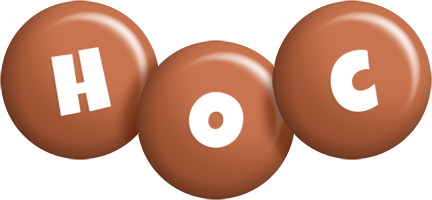 Hoc candy-brown logo
