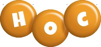 Hoc candy-orange logo