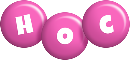 Hoc candy-pink logo