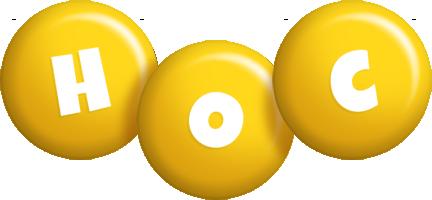 Hoc candy-yellow logo