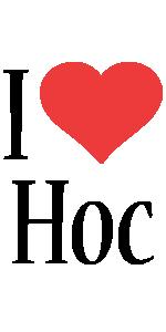 Hoc i-love logo