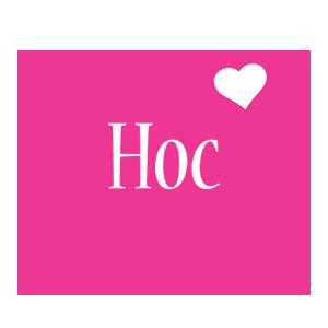 Hoc love-heart logo