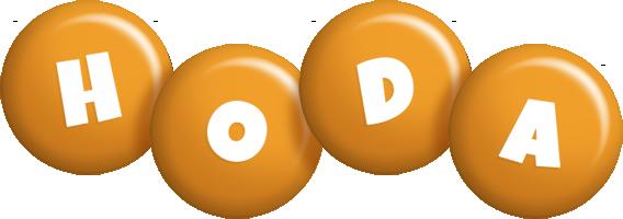 Hoda candy-orange logo
