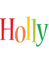 Holly birthday logo